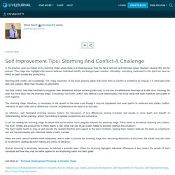 Storming And Conflict-A Challenge : stevescott1
