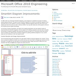 Microsoft Office 2010 Engineering : SmartArt Diagram Improvement