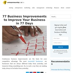 77 Business Improvements in 77 Days