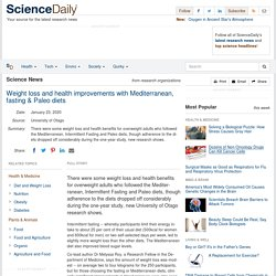Weight loss and health improvements with Mediterranean, fasting & Paleo diets