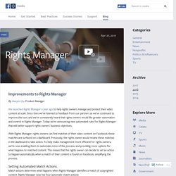 Improvements to Rights Manager