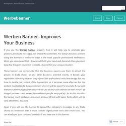 Werben Banner- Improves Your Business – Werbebanner