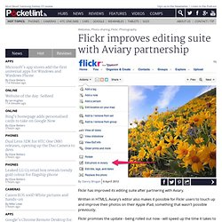 Flickr improves editing suite with Aviary partnership