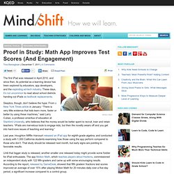 Proof in Study: Math App Improves Test Scores (And Engagement)