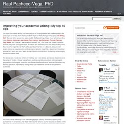 Improving your academic writing: My top 10 tips