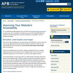 Improving Your Website's Accessibility