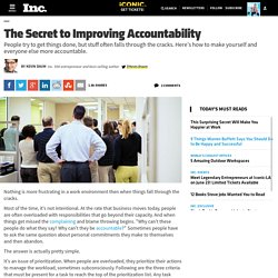 The Secret to Improving Accountability