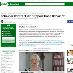 Improving Student Behavior With Behavior Contracts