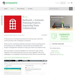 Redbooth + Evernote: Powering Projects, Improving Team Collaboration