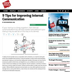 9 Tips for Improving Internal Communication