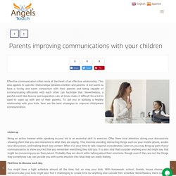 Parents Improving Communications With Children