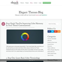 Four Quick Tips For Improving Color Harmony In Your Theme Customizations