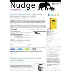 Nudge blog · Improving Decisions About Health, Wealth, and Happiness