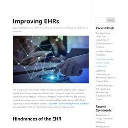 Improving EHRs