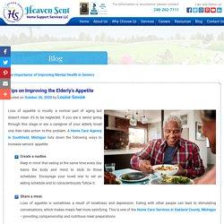Tips on Improving the Elderly's Appetite