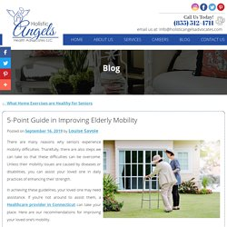 5-Point Guide in Improving Elderly Mobility