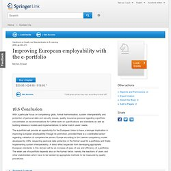 Improving European employability with the e-portfolio