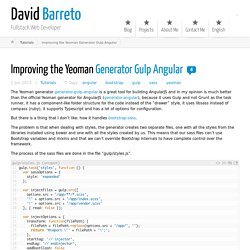 Improving the Yeoman Generator Gulp Angular ← David Barreto