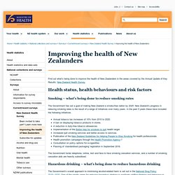 Improving the health of New Zealanders