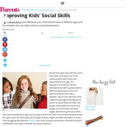 Improving Kids' Social Skills