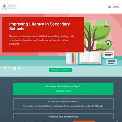 Improving Literacy in Secondary Schools