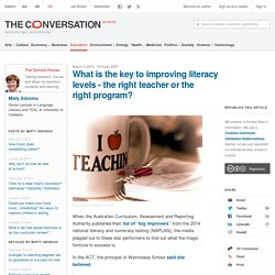 the conversation Literacy developments