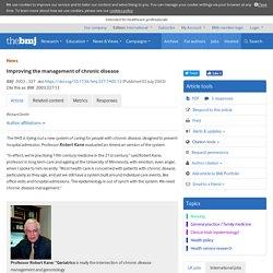 Improving the management of chronic disease