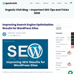 Improving Search Engine Optimization Results for WordPress Sites