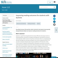 Improving reading outcomes for students with dyslexia