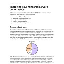 Improving your Minecraft server's performance