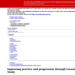 Improving practice and progression through Lesson Study