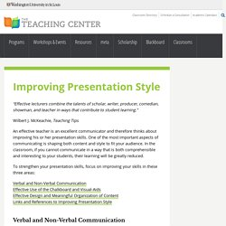 Improving Presentation Style