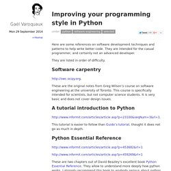 Improving your programming style in Python