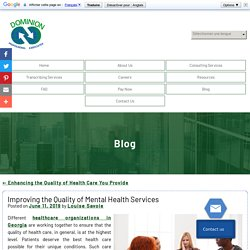 Improving the Quality of Mental Health Services