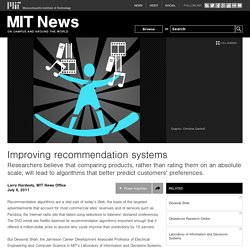 Improving recommendation systems