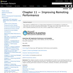Chapter 11 - Improving Remoting Performance