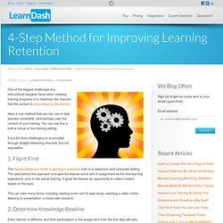 4-Step Method for Improving Learning Retention