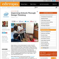Improving Schools Through Design Thinking