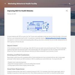 Improving SEO For Health Websites