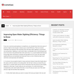 Improving Open Water Sighting Efficiency: Things to Know