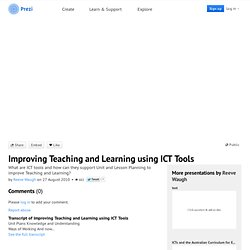 Improving Teaching and Learning using ICT Tools by Reeve Waugh on Prezi