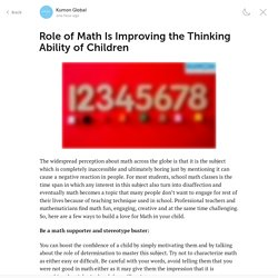 Role of Math Is Improving the Thinking Ability of Children