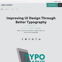 Improving UI Design Through Better Typography