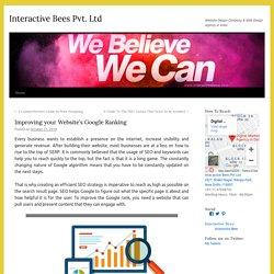 Improving your Website's Google Ranking