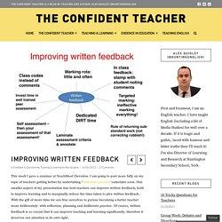 Improving Written Feedback