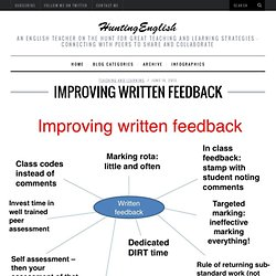 Improving Written Feedback