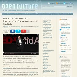 This is Your Brain on Jazz Improvisation: The Neuroscience of Creativity