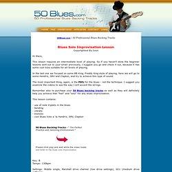 Blues Improvisation Practice Guitar Solo Lessons