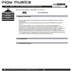 Improvisation - Les substitutions d'accords - les cours de guitare - Indy Musics