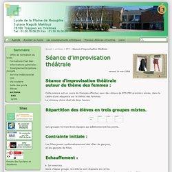 Séance d'improvisation théâtrale - Lycée de la Plaine de Neauphle